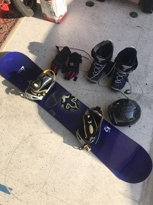 K2 snowboard, boots gloves and helmet with bag, good condition, gently used for Sale in San Diego, CA