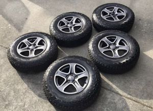 Set of Five Wheels and Tires from 2018 Jeep Wrangler JL Unlimited Sport for Sale in Seattle, WA