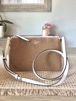 KATE SPADE JACKSON STRAW TRIPLE GUSSET CROSSBODY BAG WARM GINGERBREAD NWT $279 for Sale in San Jose, CA