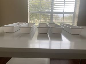 Plastic compartments for drawers (5 long, 2 small) for Sale in Houston, TX