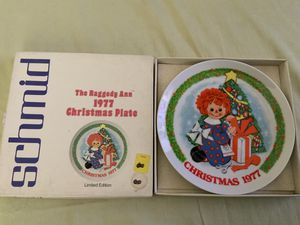 "THE SCHMID COLLECTIONS ""THE RAGGEDY ANN & ANDY PLATE IN ORIGINAL BOX #9 for Sale in Henderson, NV"