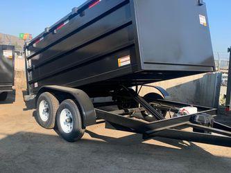 Dump trailer 8x12x4 10400lb Gvw $5985+ Tax Lic for Sale in Whittier,  CA