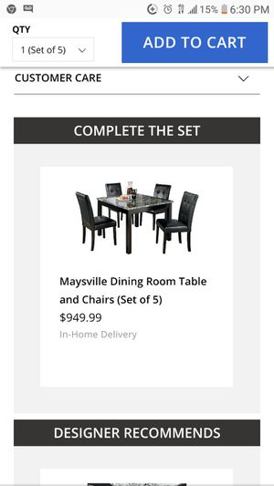 Marble table and chair set dining room for Sale in Wichita, KS