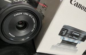 Brand new canon 24mm f/2.8 stm never used for Sale in Buffalo, NY