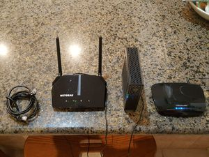 Modem & 2 routers with cables for Sale in Stuart, FL