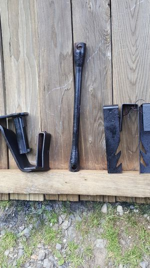 """2 Camper tie downs $48 Sold R V lug wrench 1 -1/16"""" & 1-1/8"""" $38 4 pc metal for stake bed ?$40 for Sale in Lake Stevens, WA"""