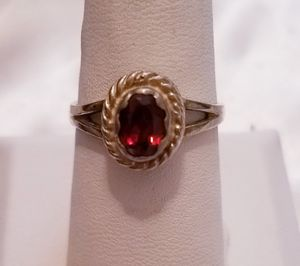 Vintage Ruby and 925 sterling silver ring, size 8 for Sale in Bangor, ME