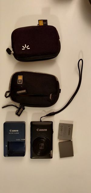 Canon powershot 300HS, 2 case logic cases, 2 batteries, charger, 2gb card for Sale in West Los Angeles, CA