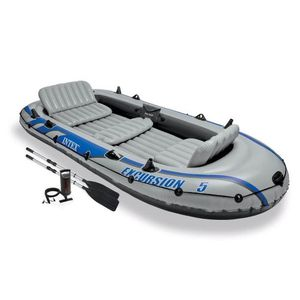 Intex Excursion 5 person boat with trolling motor & battery for Sale in Sonoma, CA