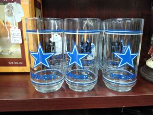 Vintage 1980s NFL Dallas Cowboys Drinking glasses for Sale in Burleson, TX