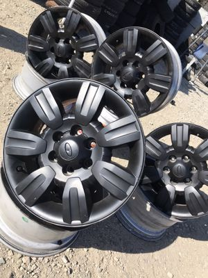 18 inch ford 6 lug rims good condition plastidipped for Sale in Upland, CA