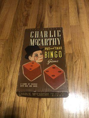 Charlie McCarthy bingo for Sale in Pelion, SC