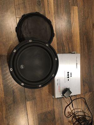 "10"" Jl audio W3 & 3500 Watts Precisionpower amp for Sale in Lancaster, CA"