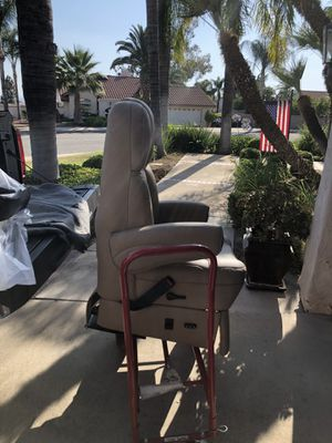 RV Motorhome captains chair seat, leather for Sale in Highland, CA
