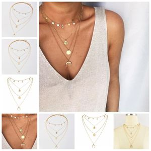 *NEW ARRIVAL* Multi-Layer Gold Horn Long Crescent Moon Pendant Chain Necklace *See My Other 600 Items* for Sale in Palm Beach Gardens, FL