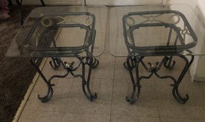 Glass metal side tables for Sale in El Centro, CA