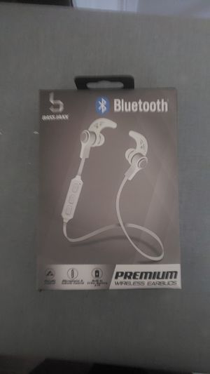 Bass jaxx sport wireless bluetooth headphones for apple iPhone and android for Sale in Boston, MA