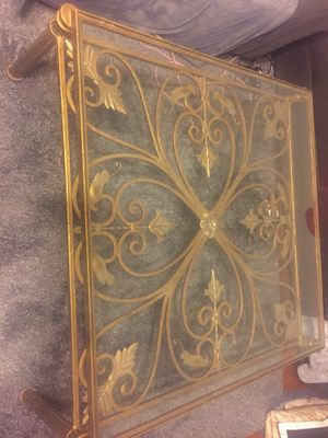 Gold plated coffee table antique for Sale in Springfield, VA