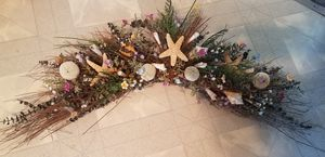 Seashells, Eucalyptus and Artificial Flowers Swag over door or archway Decor for Sale in Piscataway, NJ