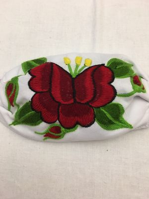 "Face mask Embroidered Mexico flower 7X5"" very soft for Sale in Edinburg, TX"