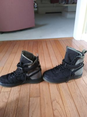 High top nike shoes(army print) for Sale in Upper Marlboro, MD