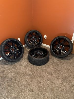 Black Rims on Continental Tires for Sale in Syracuse, NY