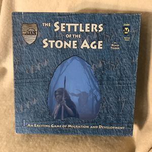 Mayfair Games the Settlers of the Stone Age Game for Sale in Anchorage, AK
