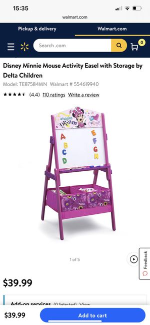 Delta Minnie Mouse Easel With Storage for Sale in Lancaster, PA