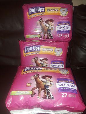 12m-24m huggies pull ups 3 new packs for Sale in Houston, TX