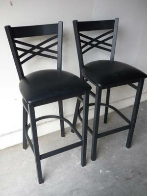 """New 2 Black Metal Bar Stools 30"""" to the Seat for Sale in Peoria, AZ"""