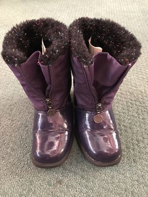 Step & Stride Kids Size 10 Rain/ Snow Purple Boots for Sale in San Diego, CA