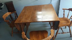 Kitchen folding table 4 chairs for Sale in Elgin, IL