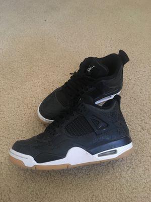 """Jordan 4 Retro """"Laser Black Gum"""" for Sale in Stockton, CA"""
