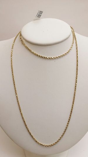 14k yellow gold rope chain 28' for Sale in San Diego, CA