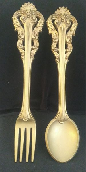 "22"" Mid Century Homco Fork & SpoonvWall Decor for Sale in Melrose, FL"
