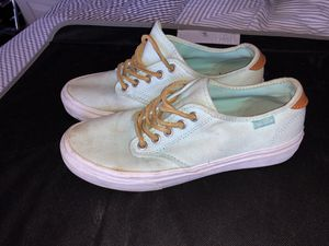 Mint Low top VANS with leather laces for Sale in St. Louis, MO
