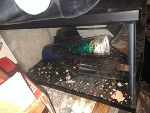 Fish tank with lid and Accessories for Sale in Portland, OR