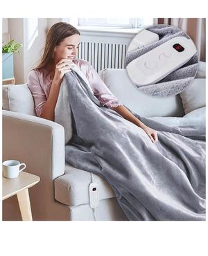 Electric Blanket Throw, Fast Heating Blanket Full Size with 3 Hours Auto Off & 6 Heat Settings, Flannel & Sherpa Reversible Heated Bed Comforter with for Sale in Corona, CA