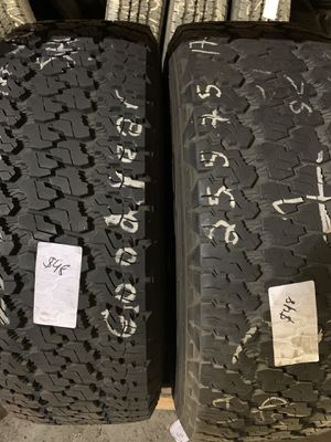 255/75/17 matching pair $48ea tire for Sale in Lakewood, WA