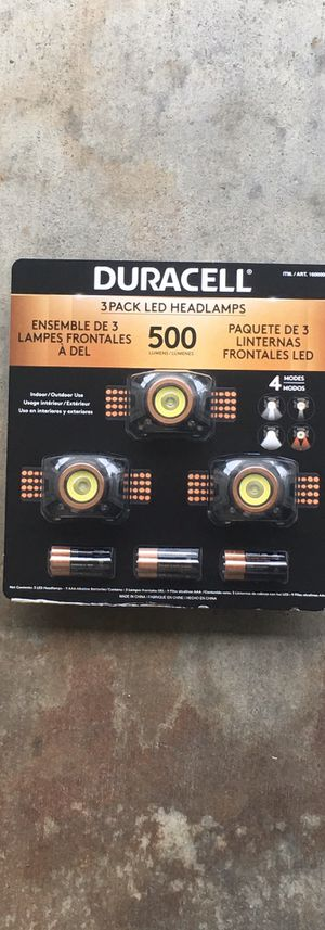 3- DURACELL headlights for Sale in Union City, CA
