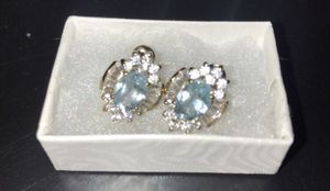 GENUINE BLUE TOPAZ earrings for Sale in Las Vegas, NV