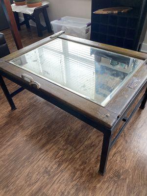 Repurposed Antique Mirrored Icebox Door Coffee Table for Sale in Alexandria, VA