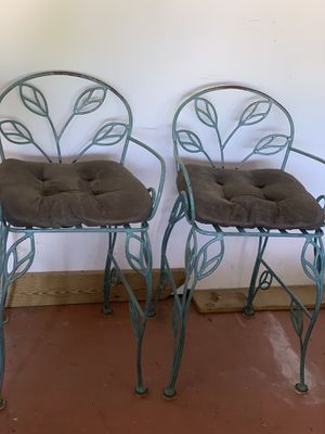 Bar height metal chairs for Sale in Indianapolis, IN