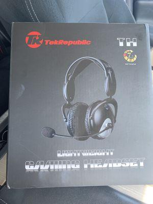 Tek Republic gaming headset/ Audífonos para juego for Sale in Chino, CA