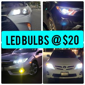 LED Headlights 6k bright white bulbs, plug and play for Sale in Rosemead, CA