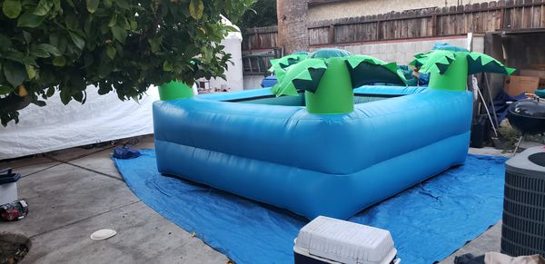New inflatable palm tree pool for sale, made in the USA 10x10x40 inch deep