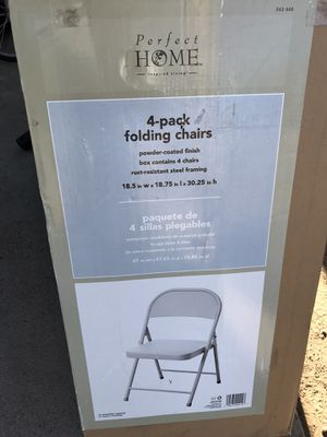 Folding chairs for Sale in Riverside, CA
