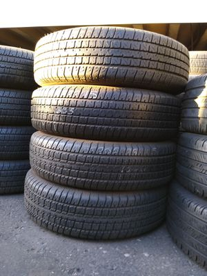 #4/ selling 4 used trailer tires size 205 75 15 all 4 for $120 Free installation for Sale in Phoenix, AZ