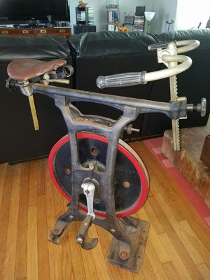 Vintage cast iron stationary exercise bike late 1800s early 1900s for Sale in Virginia Beach, VA
