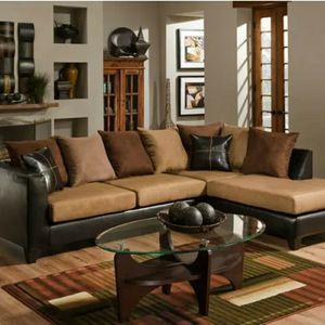 Tan & Brown Sectional for Sale in Atlanta, GA